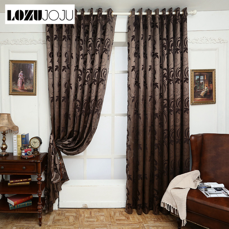 US $11.39 49% OFF|LOZUJOJU Geometry curtains for living room curtain  fabrics brown window curtain panel semi blackout bedroom curtains-in  Curtains ...