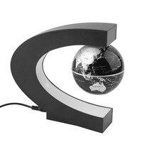 ICOCO New Home Decoration LED Floating Tellurion C Shape Magnetic Levitation Floating Globe World Map With LED Light US Plug