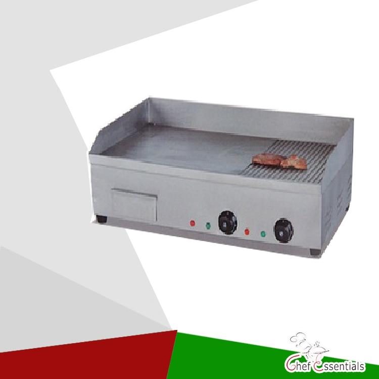 PKJG-EG822 Electric Griddle(1/2 Flat & Grooved)/CE norm. for Commercial Kitchen pkjg eg68 vertical electric griddle flat plate for commercial kitchen