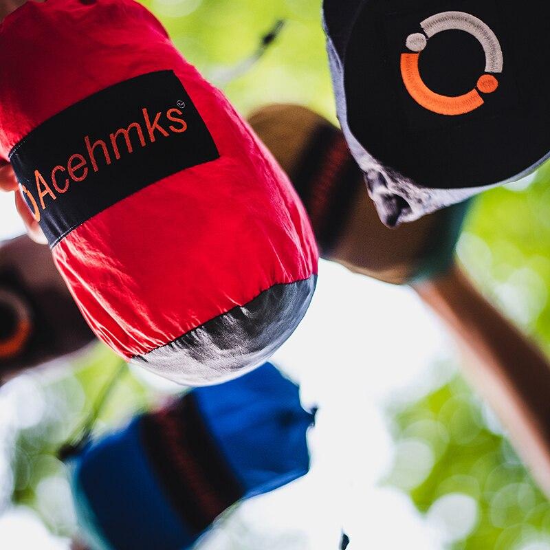 Купить с кэшбэком Acehmks Double Hammock Large Size Hammocks For 2 Person Sleeping Bed Outdoor Camping Swing Portable Ultralight Design 300*200 CM
