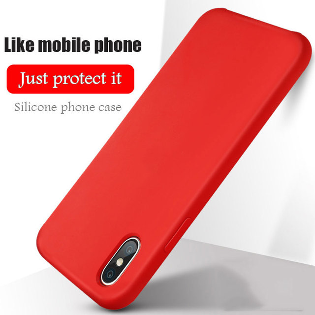 new style d2bcf e05e3 US $3.5 |Original With Logo Case Multiple Colors For iphone 7 6 6S X 8 Plus  5 5S SE Apple Phone Cover For iphone 7 8 plus Silicone Case-in Fitted ...