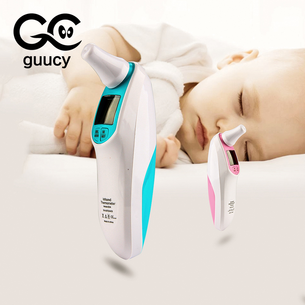 Guucy Baby Digital Thermometer LCD Non-contact Ear Temperature Thermometers Infrared Laser Measurement Baby Adults Fever Tools