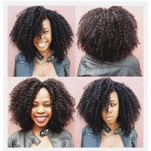 Venta caliente Afro Rizado Rizado Pelucas Sintéticas Baratos A Prueba de Calor Pelucas Sintéticas Para Las Mujeres Negras