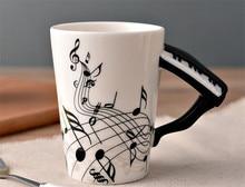 Музыка фортепиано отмечает кружка керамическая кружка чая кружки кофе музыкальные элементы Drinkware фортепиано кружки отличный подарок