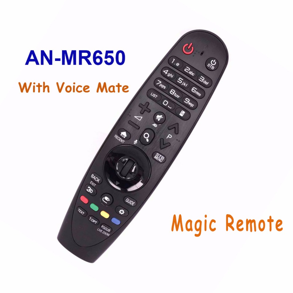 New Original For LG AN-MR650 AN MR650 Magic Remote Control With Voice Mate Smart TV Remoto Controller Controle high quality brand new genuine an mr600g magic remote control for lg 3d smart tv