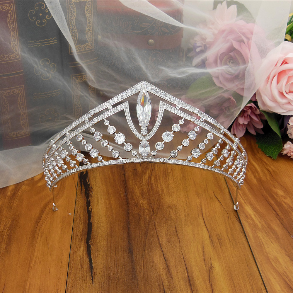 Big Wedding Crown Headband Tiara CZ Bridal Tiaras And Crowns Diademas Para el Pelo Mujer Couronne Mariage Coroa Novia WIGO1379Big Wedding Crown Headband Tiara CZ Bridal Tiaras And Crowns Diademas Para el Pelo Mujer Couronne Mariage Coroa Novia WIGO1379