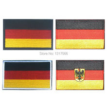 Embroidery Badge Germany National Flag Of German Military Embroidered Badges Tactical Patch For Outdoor Clothing Cap Bag(China)