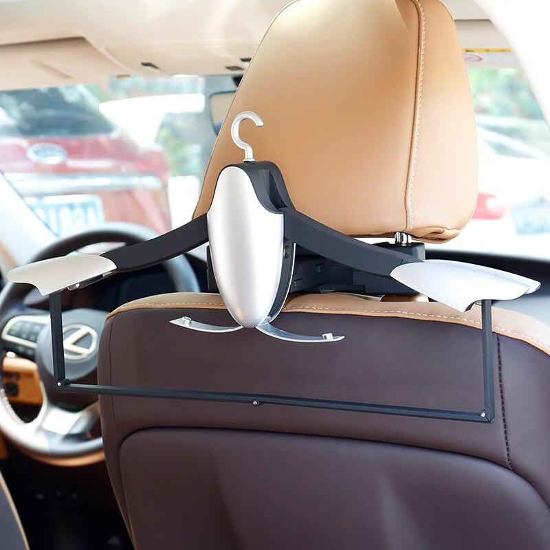 E FOUR Car Coat Hanger Bionic Design Headrest Portable Foldable Hanger Seat Rack Hanger Premium Quality Clothes Holder Travel-in Car Coat Hanger from Automobiles & Motorcycles    2