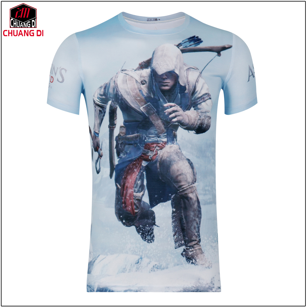 Design t shirt games online - Aliexpress Com Buy Hot New 2017 Summer Fashion T Shirts Men Short Sleeve Game Tees Assassins Creed 3d Printing T Shirt Design Online Free Shipping From