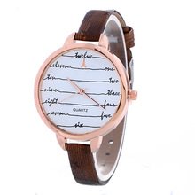 1pc/lot New Skinny Small Rose Gold Be aware Ebook Dial Wrist Watch Trend Girls Gown Watches Excessive High quality PU Leather-based Watches