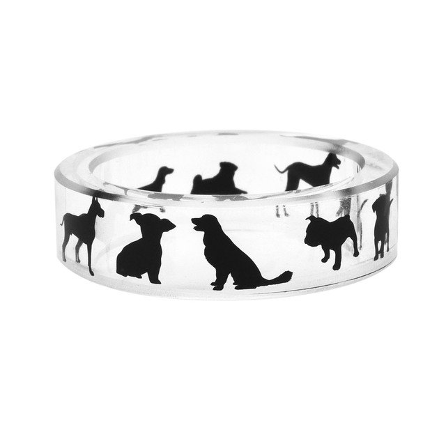 Fashion Silver Dog Patterned Ring