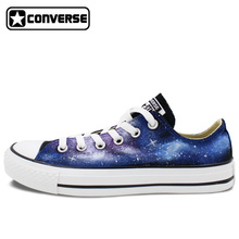 Men Women Converse Chuck Taylor Galaxy Stars Hand Painted Low Top Canvas Sneaker Unique Birthday Gifts Man Woman Custom Design