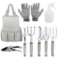 9 Pcs Stainless Steel Pruning Secateurs Gardening Tools with Storage Tote Bag Pruning Shears Gardening Gloves