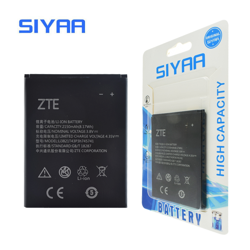 Original SIYAA Battery LI3821T43P3H745741 For ZTE Blade L5 PLUS C370 Replacement Original Battery 3.8V Real Capacity 2150mAh