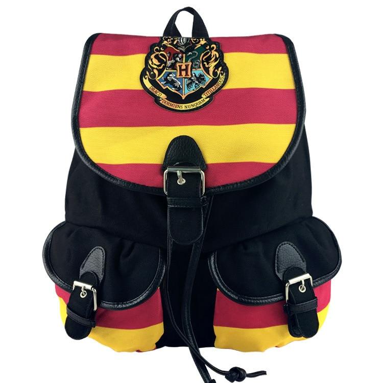 2 Type Soft Harry Potter Canvas Backpack Hogwarts School Boys Gilrs