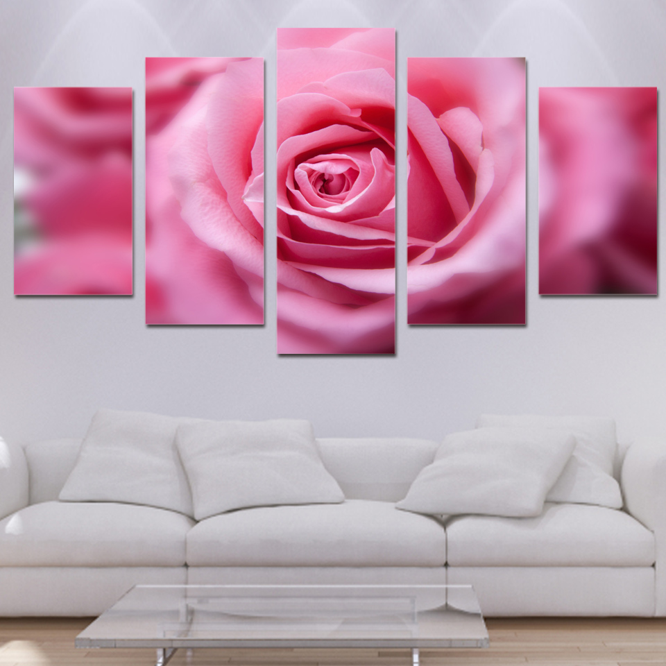 arte da parede da lona fotos quadro pintura moderna sala de casa modular florescendo rosas flor - Flor Decor
