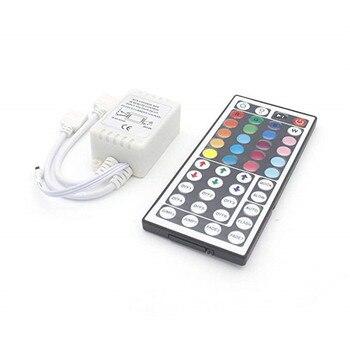 Led Controller 44 Keys 24 Keys LED IR RGB Controler LED Lights Controller IR Remote Dimmer DC12V 6A For RGB 3528 5050 LED Strip 1pcs new 12v 6a mini 24key 44key ir remote controller rgb led controller for 3528 5050 rgb led strip light