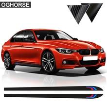 цена на For BMW F30 F31 X5 F15 X6 F16 E60 F32 F34 F22 E90 F10 F11 F01 F02 G30 Z4 E89 F20 M Performance Side Stripe Skirt Sticker Decal