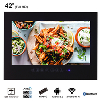 Souria 42 дюймов Android 9,0 Smart Wi Fi 1080HD Full HD Безрамное Душ телевидение интернет телвизор для ванной комнаты (черный/белый)