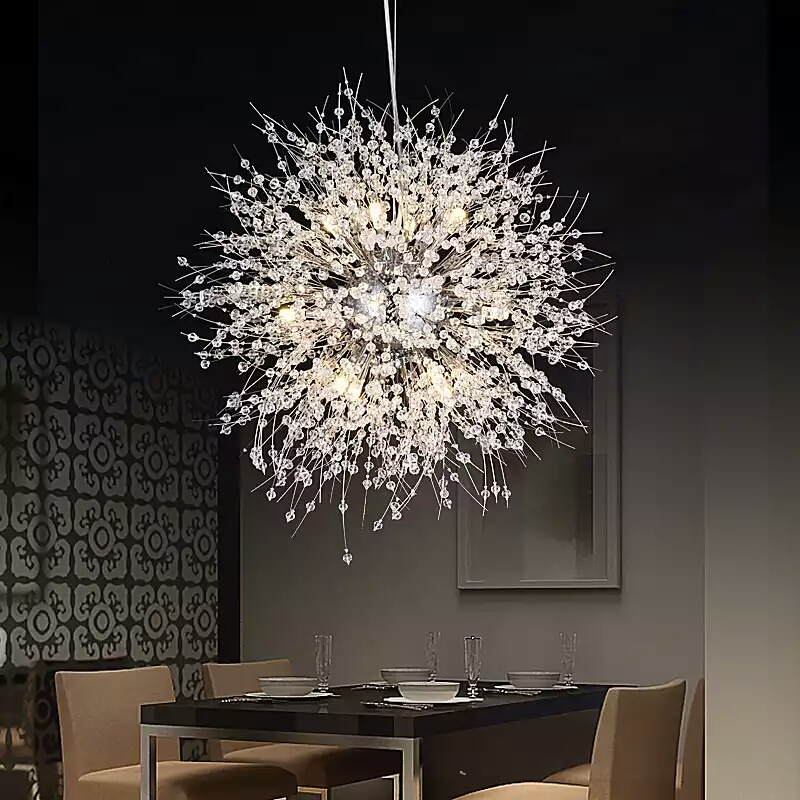 Modern creative personality living room bedroom LED crystal pendant lights clothing shop dandelion spherical pendant lamp free shipping 5pcs of 3 flutes roughing end mills 4mm hrc60 milling cutters cnc endmill tools carbide router bits