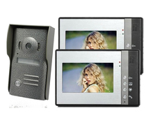 freeship by DHL Home 7 inch TFT LCD Monitor Color Video Door Phone 4 wire door Intercom IR Outdoor Camera Doorphone 1V2