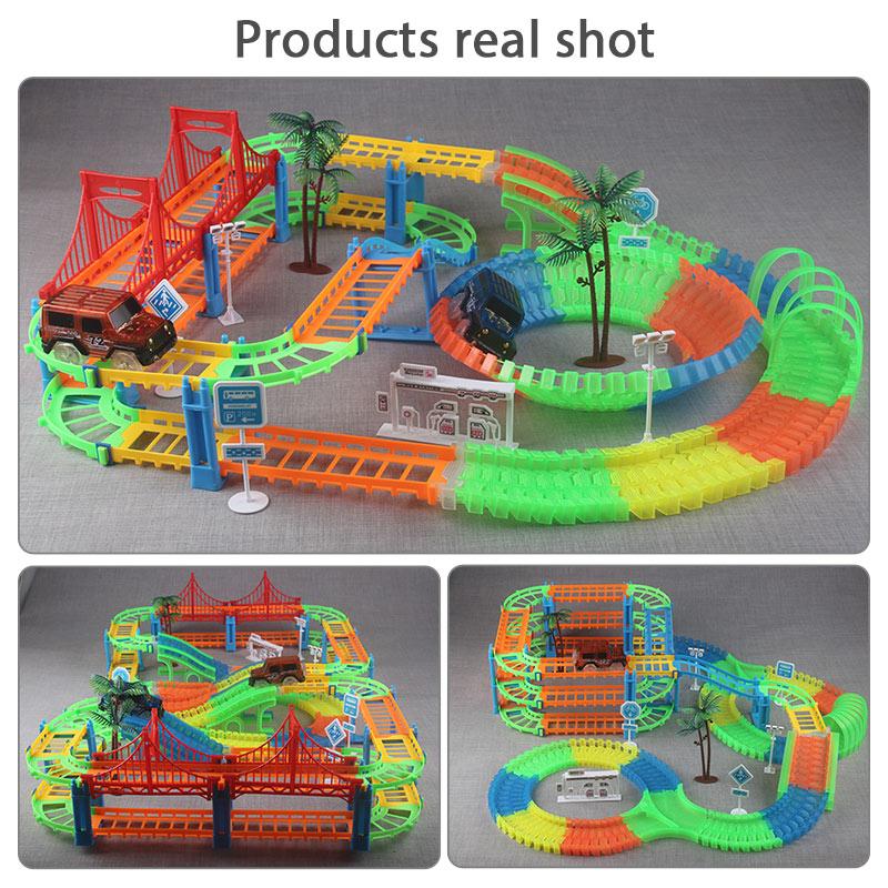 Eisenbahn Rennstrecke Spiel Set pädagogische DIY Biegung flexible - Druckguss- und Spielzeugfahrzeuge - Foto 5