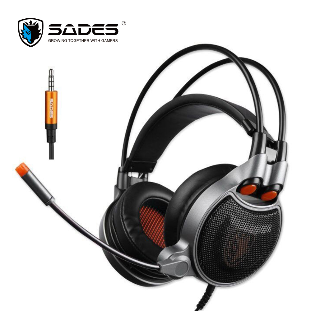 NEW ARRIVAL SADES SA929 7.1 Virtual Stereo Surround Gaming Headset Headband Headphone with Mic for PC PS4 Xbox One Tablet Phone kotion each g9000 7 1 surround sound gaming headphone game stereo headset with mic led light headband for ps4 pc tablet phone