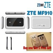 Много 2 шт. ZTE mf910 4 г LTE Wi-Fi Беспроводной карман роутер модем разблокирована с бесплатный подарок