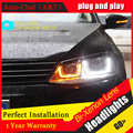Stylingfor JETTA MK6 Faros 2011-2014 JETTA coche LED Headlight ángel ojos JETTA GLI drl LED H7 hid Bi-xenon Lente luz de cruce