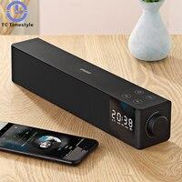 Audio Black Technology Fashion Smart Desktop Touch Alarm Clock Bluetooth Stereo Simple Modern Desktop Set Alarm Clock