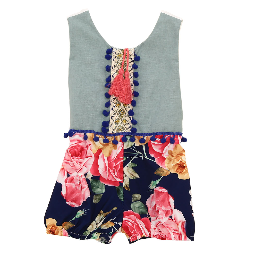 Fashion Newborn Baby Girls Romper Cartoon Floral Costume Baby Clothes Overall Summer Baby Infant Rompers Jumpsuit Clearance