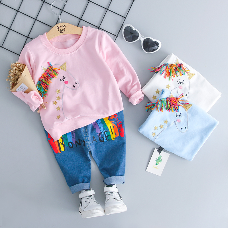 e1597eb29 US $14.27 |Spring Autumn Children Clothing Baby Boys Clothes Full Sleeve T  shirt And rainbow Pants 2pcs/set Cotton Suits Toddler Tracksuits-in ...
