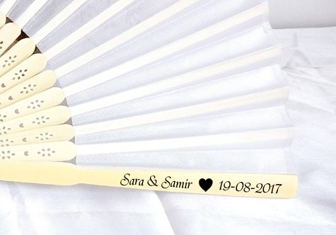 free shipping 100pcs personalized silk wedding hand fans silk