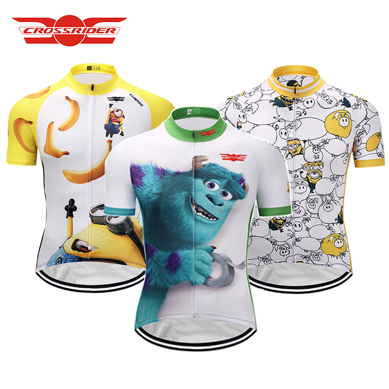 Crossrider 2019 Funny Cycling Jersey Summer Mtb Cartoon Cycling Clothing Bicycle Short Maillot Ropa Ciclismo Bike Wear Clothes
