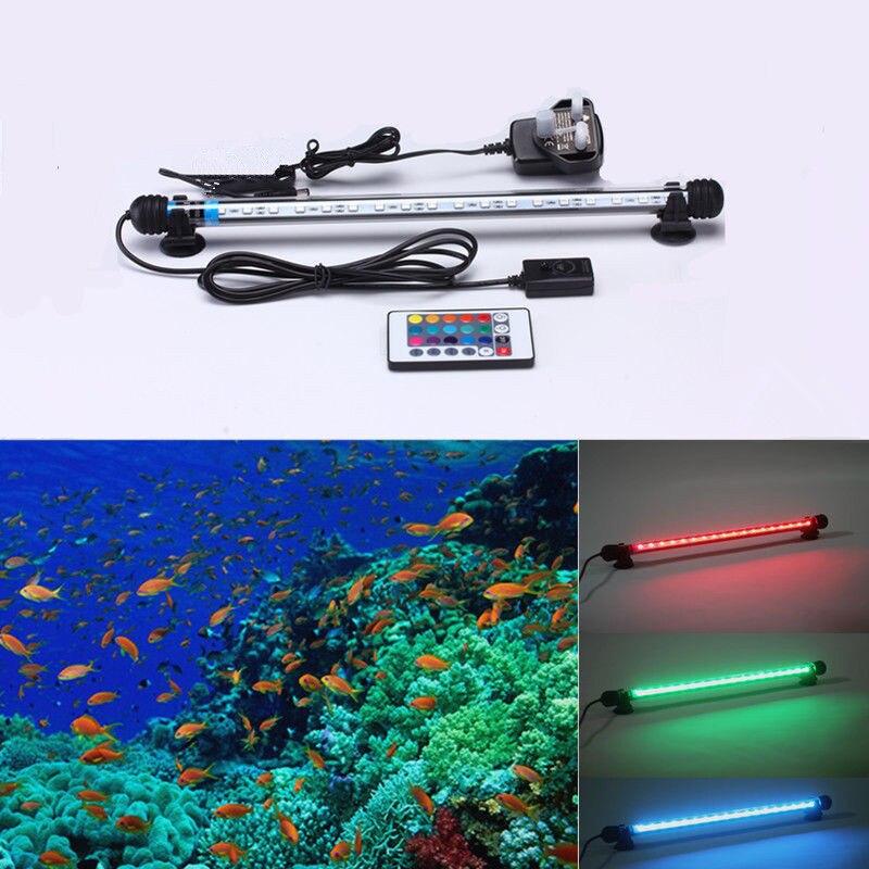 Lights & Lighting Nice Remote Controll 38cm 18leds 5050smd Light Bar Submersible Strip Submarine Lamp Multicolor Rgb Aquarium Fish Tank Tube Waterproof The Latest Fashion