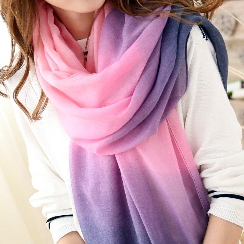 2018 Fashion Spring   Scarf   Women shawl Brand Bandana Tassels   Scarf   Foulard Femme Designer Cotton shawls   Scarves     Wrap