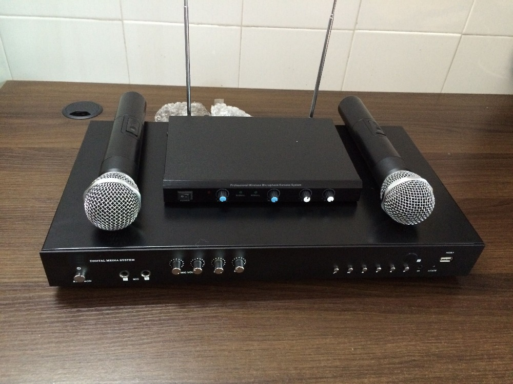 Professional HDD  karaoke machine With 2TB hard driver include 42000 songs  2 wireless microphone