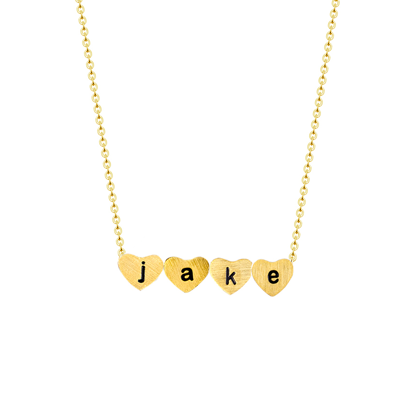 Initials a b c d e f g h i j k l m n o p q r s t u v w x y z Personalized Name Necklaces Women Silver Gold Heart Pendants Custom