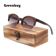 semi-rimless brown bamboo sunglasses women polarized brown sunglasses wood bamboo UV400 sunglasses oculos de sol feminino очки коричневые bamboo brown demi bamboo