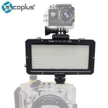Mcoplus 160 шт. СВЕТОДИОДНЫЕ Лампы Дайвинг Водонепроницаемый Подводный Видео света 25 М 82ft для Sony Canon Nikon Камеры GoPro SJCAM Спорт Д. в.