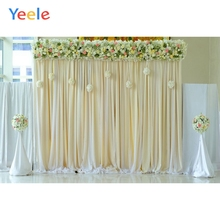 Yeele Flower Curtain Wedding Backdrop Photography Children Baby Birthday Party Photo Backgrounds Photocall For Studio
