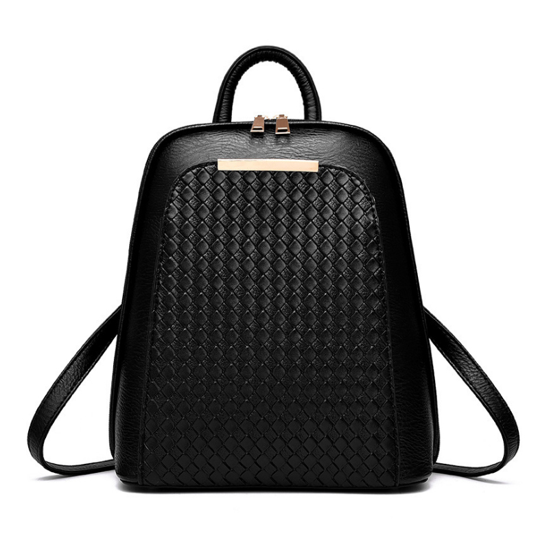 Homeda High Quality Solid PU Leather Women Backpack Elegant Design School Bag For Teenagers Girls Luxury Mochila Feminina Z0035