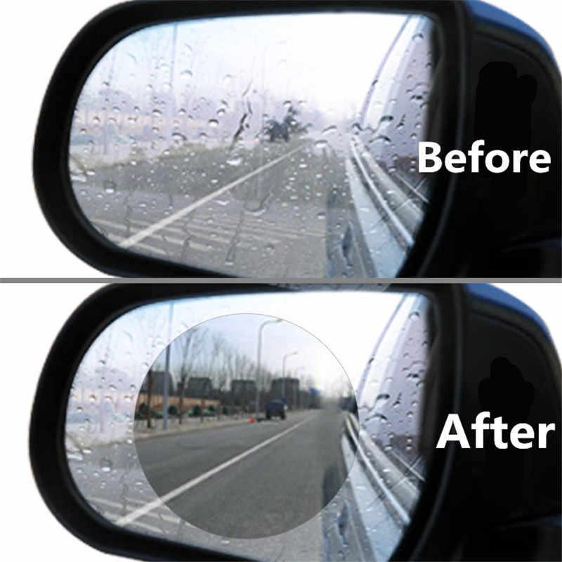 2 قطعة ملصق سيارة مرآة الرؤية الخلفية طبقة رقيقة واقية مكافحة الضباب نافذة واضحة احباط غير نافذ للمطر واقية لينة فيلم اكسسوارات السيارات