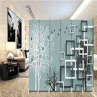 180*40 см * 6 шт. висит Экран украшения стены завесы перегородкой перегородка biombo дерево Наклейки на стену складной экран