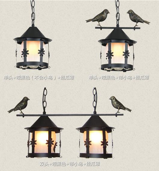 EMS FREE SHIPPING American fashion brief rustic wrought iron pendant light small single head bar Pendant FG686 ems free shipping rustic wrought iron flowers and bedroom pendant light fashion pendant light brief pendant light lighting lamps