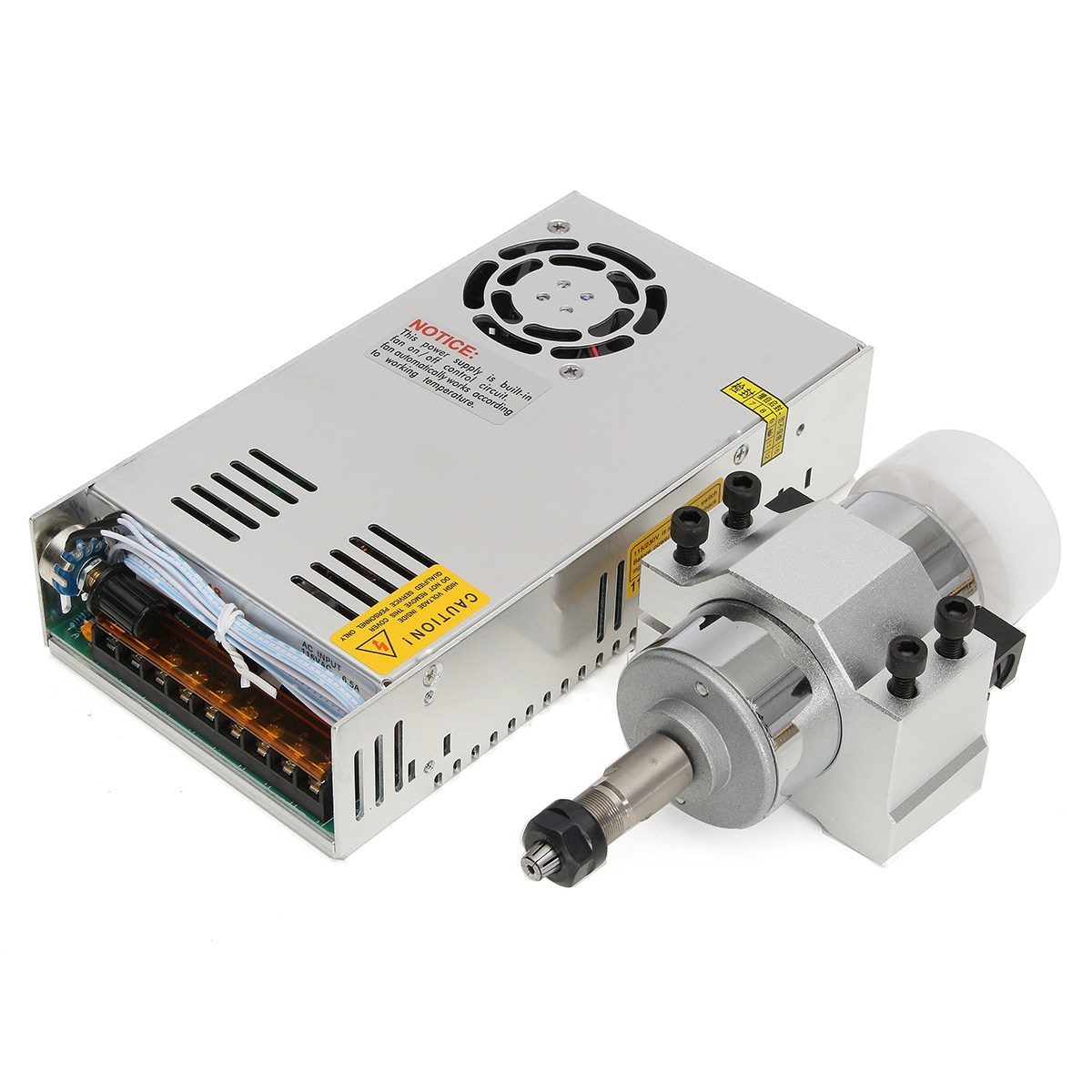 300W Engraving Machine Air Cooled Spindle ER11 Chuck CNC 0.5KW Spindle Motor 52mm clamps Power Supply Speed Governor For DIY CNC лопата штыковая 19309 с черенком