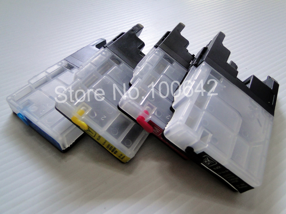 1set Refillable ink cartridge LC12 LC17 LC71 LC73 LC75 LC77 LC79 LC400 LC450 LC1220 LC1240 LC1280