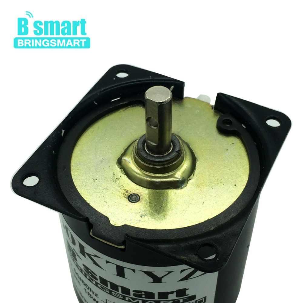 Bringsmart 110 В 220 В синхронный AC мотор-редуктор мини Электрический мотор редуктор низкая скорость металлический мотор-редуктор для барбекю оптовая продажа