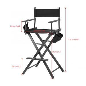 Image 4 - Chair Professional Makeup Artist Directors Chair Wood Lightweight Foldable
