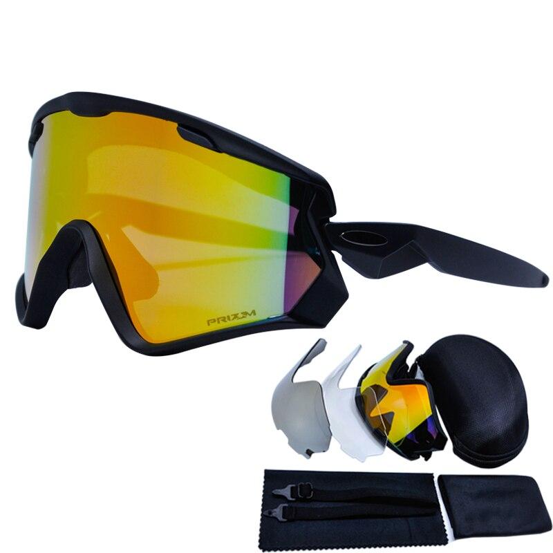 555106cfef Nuevo 2019 TR90 gafas de ciclismo para gafas de sol de ciclismo gafas de  ciclismo bicicleta ciclismo gafas 3 lentes UV400 3 lente:Espejo completo  recubierto ...